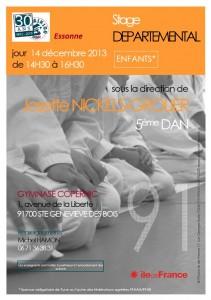 14 décembre 2013 - Stage départemental enfants - Josette Nickels-Grolier - 5ème dan