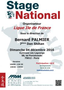 Stage National ligue Idf – Bernard Palmier