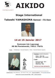 Stage International dirigé par Takeshi Yamashima (7ème dan)