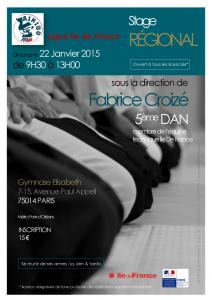 Stage Régional Idf dirigé par Fabrice Croizé (5ème Dan)