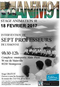 Stage Animation 91 dirigé par 7 professeurs