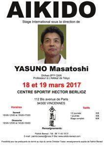 Stage International dirigé par Masatoshi Yasuno (8ème dan)