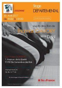 Stage Départemental dirigé par Thomas Gavory, 5ème dan