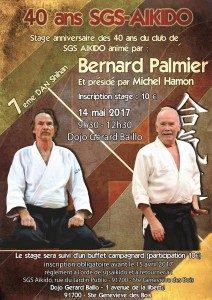 40 ans SGS Aïkido, stage évènement dirigé par Bernard Palmier, 7ème dan