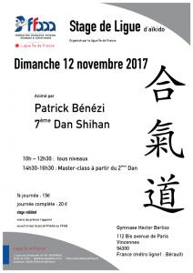Stage Régional IDF dirigé par Patrick Bénézi 7ème dan Shihan