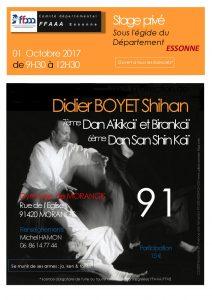 Stage Privé organisé par le Comité Départemental 91 dirigé par Didier Boyet 7ème dan shihan