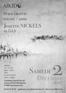 Stage gratuit enfants/ados dirigé par Josette Nickels 6ème Dan