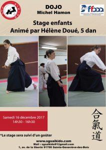 Stage enfants animé par Hélène Doué 5ème Dan