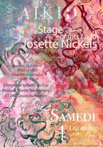Stage enfants/ados avec Josette Nickels Samedi 1er Décembre